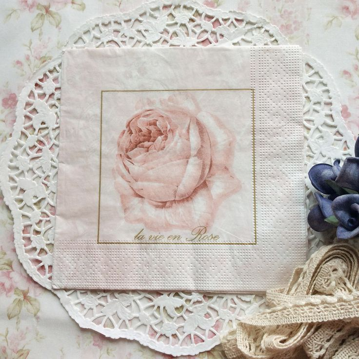 Napkin Papers Serviettens Decoupage Tissue  Vinagre Rose 33x33 cm (1/4 folded)  IDR 15.000/pc Send me your inquiry to yufihandcrafted@gmail.com   Shabby Chic Victorian Cottage Vintage Retro Rose Floral Flower Paper Napkins   And get a special discount on bulk order!
