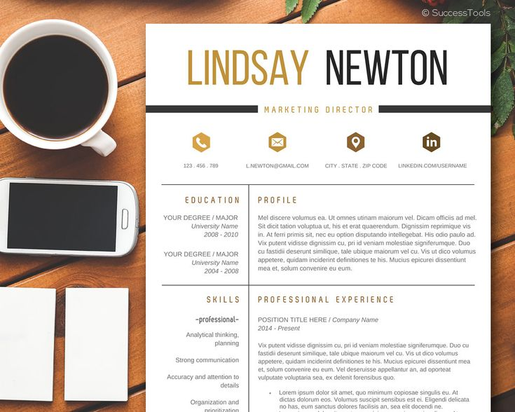 modern resume template with cover letter cv template professional resume template instant download