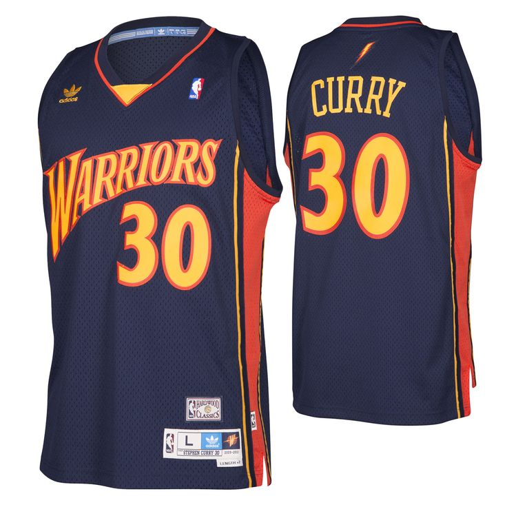 Picked 7th overall in the 2009 NBA Draft, Stephen Curry went on to a stellar rookie year, averaging17.5 points, 5.9 assists, and 1.9 steals per game and being named tothe NBA All Rookie First Team. The adidas Originals Throwback Stephen Curry Road Jersey represents an historic year for Warriors basketball, with retro team identity wordmark across the chest in two-color applique, and 2009-2010 team fonts and colors.    FEATURES        Material: 100% polyester      Re-engineered