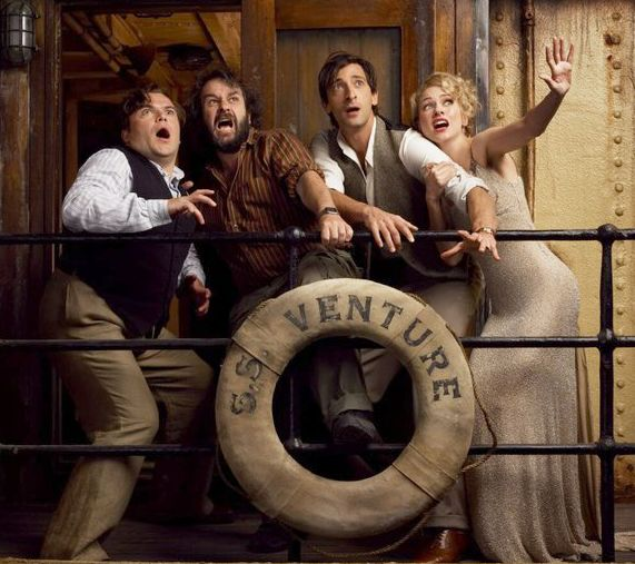 Jack Black, Peter Jackson, Adrien Brody and Naomi Watts for King Kong, 2005
