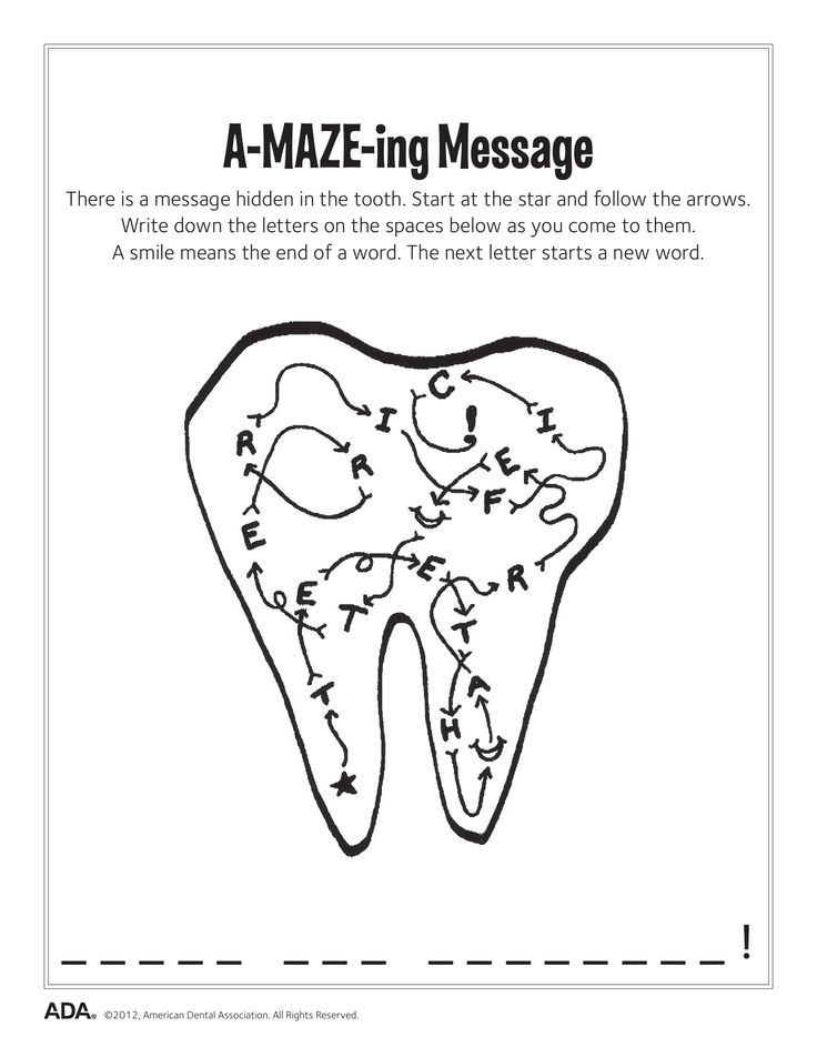18 best Fun Dental Activity Sheets images on Pinterest