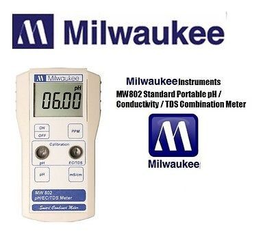 MILWAUKEE INSTRUMENTS MW802 Portable pH/Conductivity/TDS Meter&SE600 Combo Probe