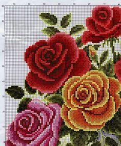 Jarrón con rosas - 1