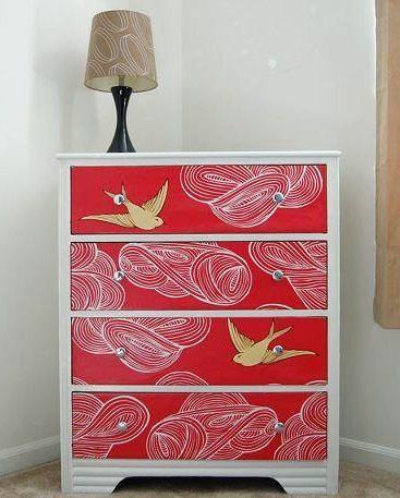 Wallpapered Dresser: Ideas, Wallpaper Dresser, Mod Podge, Paintings Dressers, Modpodge, Furniture, Wallpapers Dressers, Diy Projects, Kids Rooms