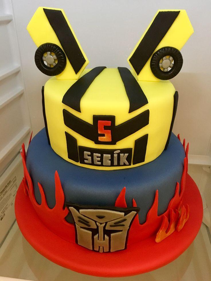 Transformer Birthday Cake, detsky narozeninovy dort