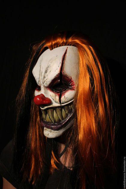 Карнавальные костюмы ручной работы. Заказать Авторская маска клоуна.. MASKCRAFT. Ярмарка Мастеров. Cosplay, клоун, акриловые краски