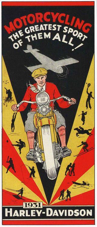 Art Deco Motorcycle   Motorcycle Art   HardRider