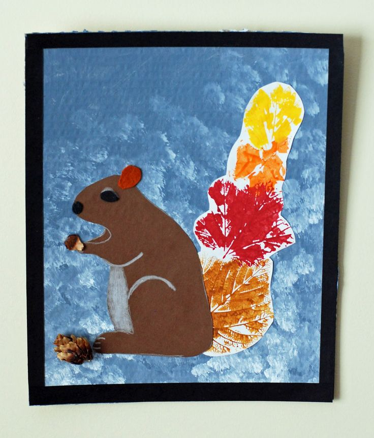 that artist woman: Leaf Print Turkeys and Squirrels
