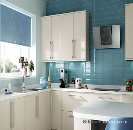 Wickes - Glencoe Cream. The warm colour and high gloss finish of Glencoe Cream will brighten up even the smallest of spaces. More information is available here - http://bit.ly/1V0wpkZ