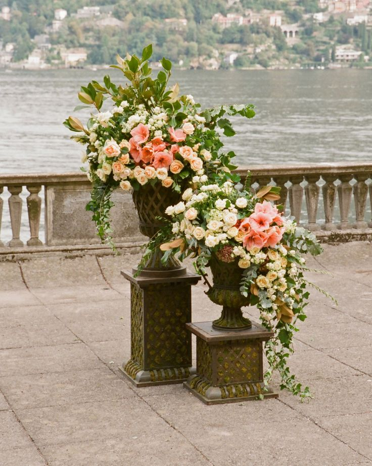 Large Wedding Altar Arrangements: 534 Best URNS OVERFLOWING Images On Pinterest