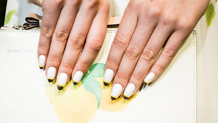 Accent french: Nail Trends Spring 2014 - Best Nail Trends from Spring 2014 - Harper's BAZAAR