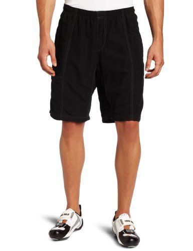 Canari Cyclewear Men's Mountain Canyon Gel Baggy Padded Cycling Short (Black, Large) - http://ridingjerseys.com/canari-cyclewear-mens-mountain-canyon-gel-baggy-padded-cycling-short-black-large/