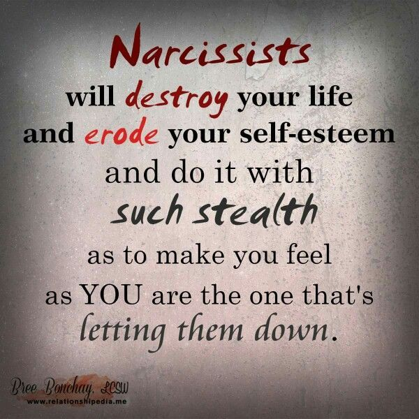 Narcissist will destroy you with such stealth, you are the one apologizing...