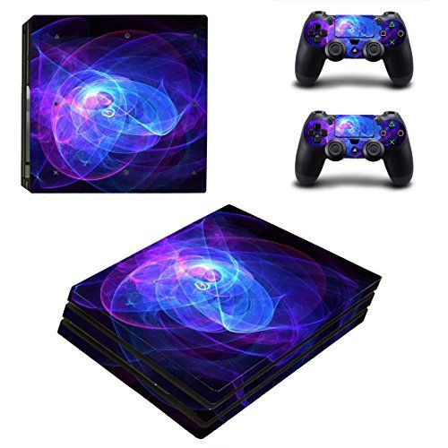 Protective Vinyl Skin Decal Cover for Sony PlayStation 4 Pro PS4 Pro Console  Remote DualShock 4 Pro Controller Sticker Skins  Abstract Light ** Want to know more, click on the image.Note:It is affiliate link to Amazon.