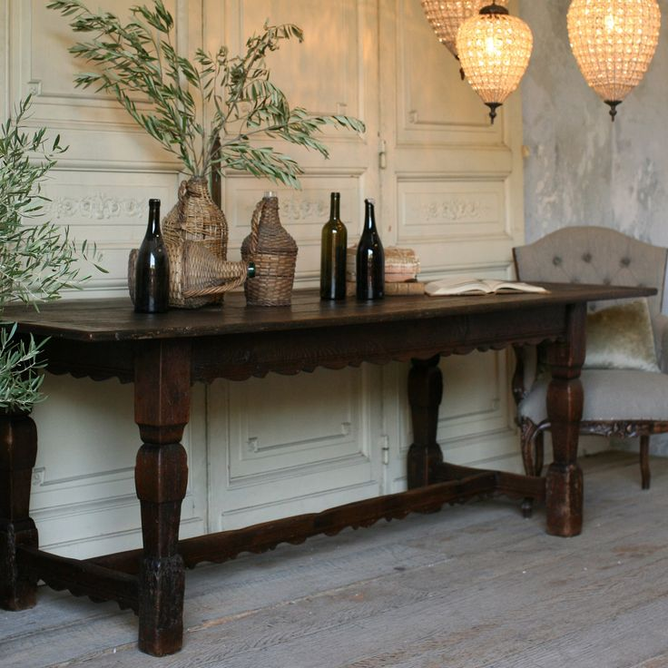 Eloquence One Of A Kind Antique Table Deep Oak.