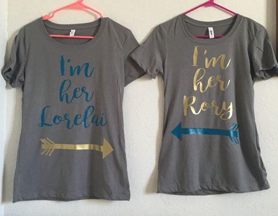 Gilmore Girls Shirt Set of 2 I'm Her Lorelai I'm Her by giggletee