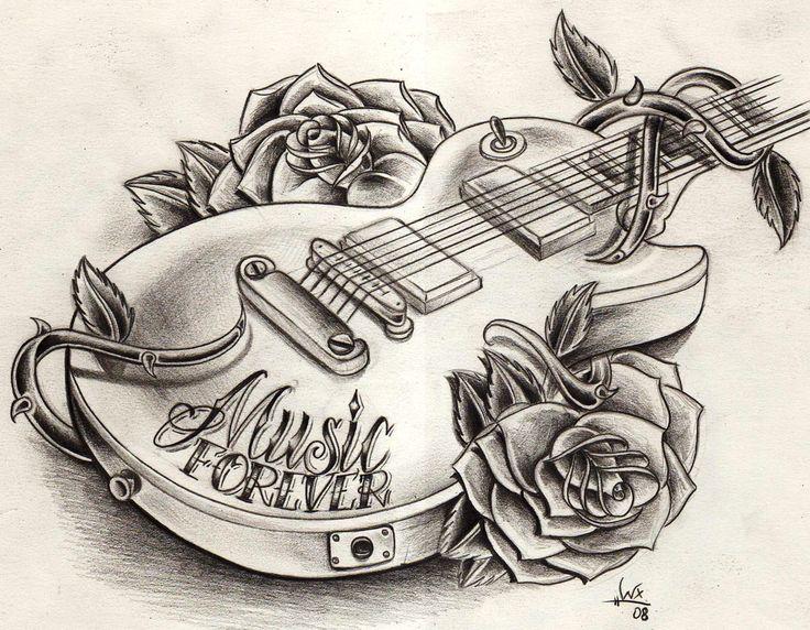 Tribal Rose Tattoos | Dessin pour tatouage musique