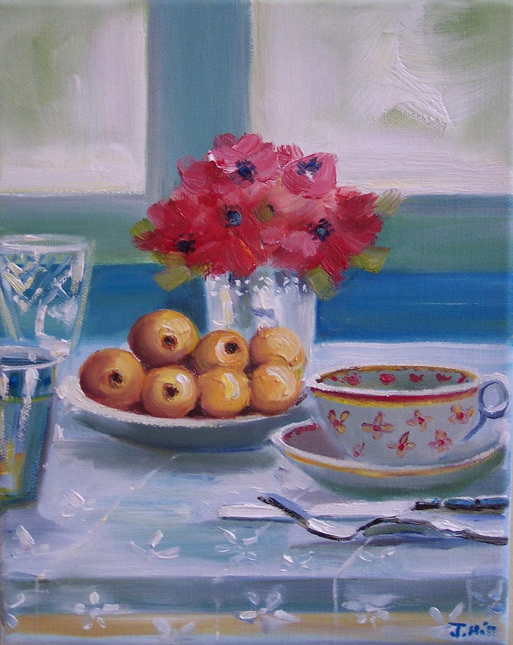 Apricots and Tea by Janet Hill