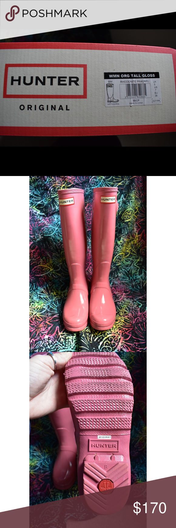 Selling this **Tall Hunter Boots in glossy pink!!** on Poshmark! My username is: pbialke. #shopmycloset #poshmark #fashion #shopping #style #forsale #Hunter Boots #Shoes