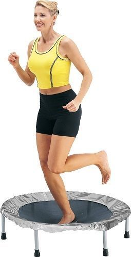 36 inch Folding Trampoline Rebound Exercise Fitness Cardio Workout Gym Equipment #Stamina