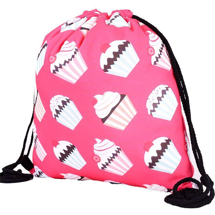 Women's Backpack Ladies Shoulder Bag Travel Backpacks Mochila Escolar Youth Teenage Printing Drawstring School Fashion Rucksack* #Affiliate