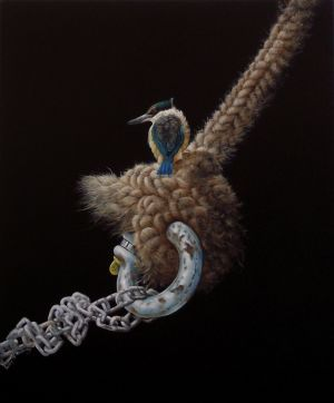 Gary Roberts, 'First Day Out - Kingfisher' (2013) Acrylic on canvas, 600 x 500 mm, POA at the Remuera Gallery