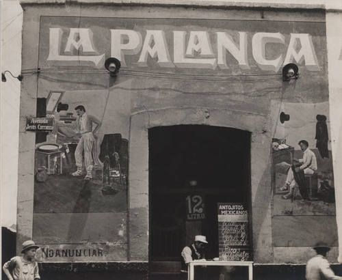 Exterior of Pulqueria, Mexico - by Tina Modotti