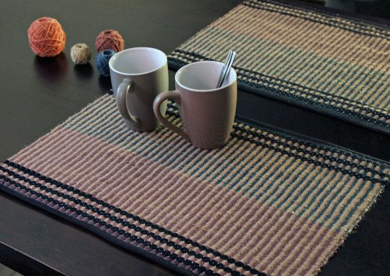 Hand Woven Placemats. A set of two. Jute. by IvelleTheHappyCow, €34.00