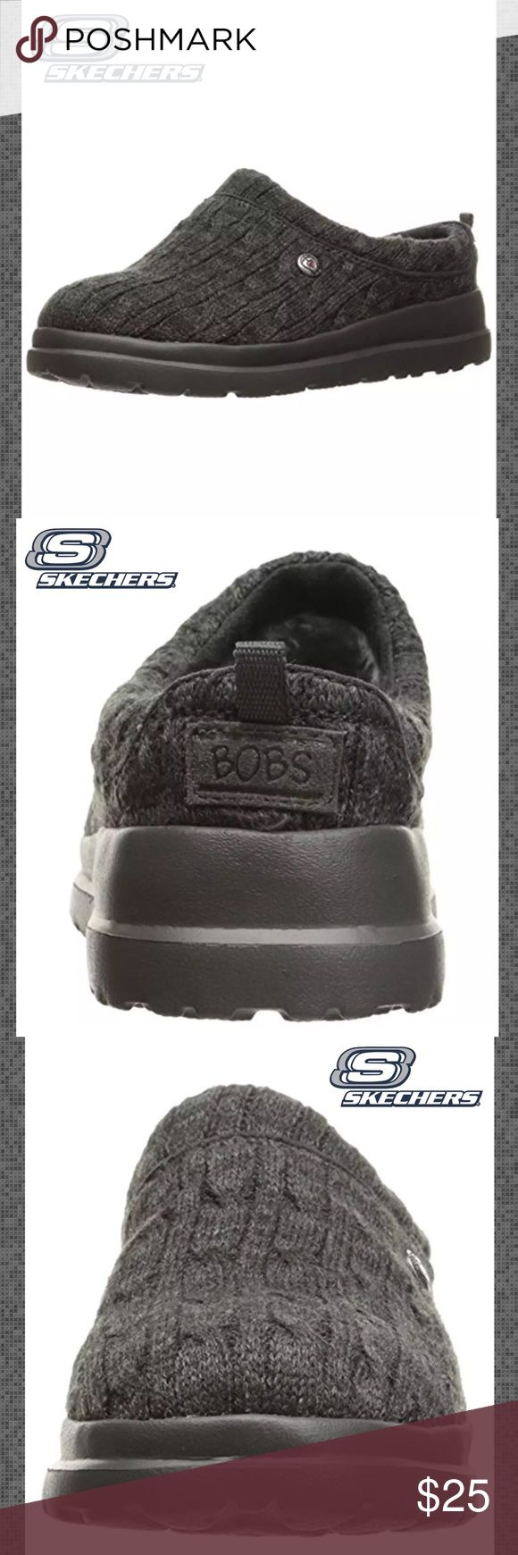 SKETCHERS 'Bobs' Gray Clog Slippers Please See Above Picture For Detailed Description Sketchers Shoes Slippers