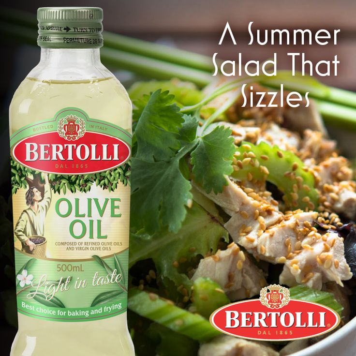 Perfect for balmy summer evenings, this #healthy sesame chicken salad #Recipe using Bertolli Extra Light Oil is light on the hips and takes no time at all http://www.cookingwitholiveoil.com.au/sesame-chicken-salad/