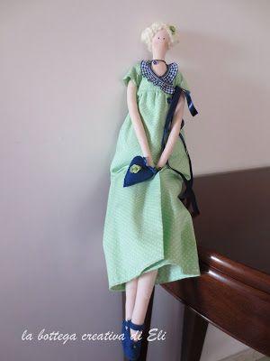la bottega creativa di eli:  TILDA JANE AUSTEN #tilda #bambole #dolls #bonecas #cucitocreativo