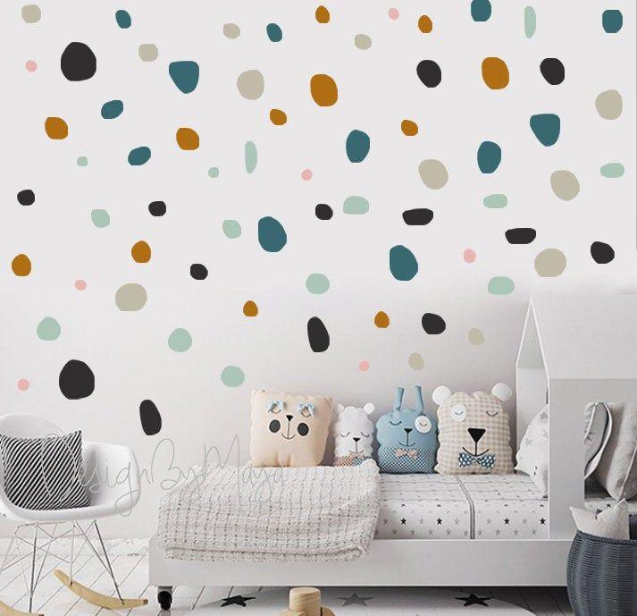 Nursery Wall Sticker Decor Polka Dot Playroom Wall Kids Decal