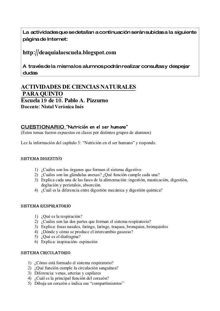 La actividadesque se detallan a continuación serán subidas a la siguiente página de Internet:  http://deaquialaescuela.blo...
