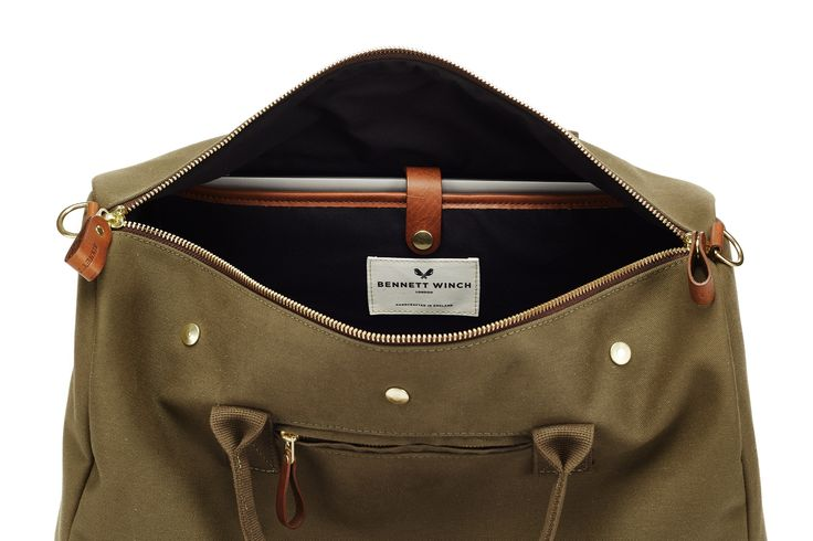 Inside Padded Laptop Sleeve Of The Commuter Bag In Olive