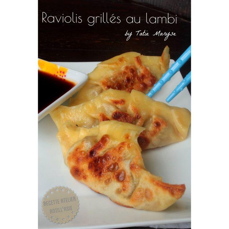 raviolis grillés au lambi