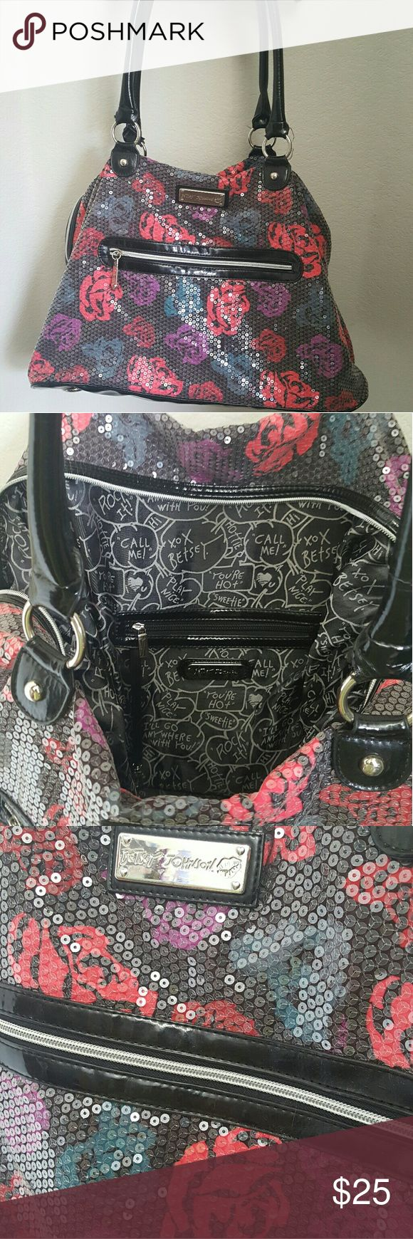 Selling this Betsey Johnson Weekender Tote on Poshmark! My username is: jessica24lee. #shopmycloset #poshmark #fashion #shopping #style #forsale #Betsey Johnson #Handbags