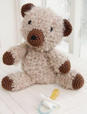 Crochet soft teddy bear - recipe from Garnstudio