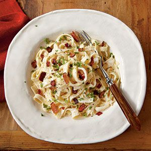 Treat yourself tonight! Indulge in this lightened version of the rich Italian pasta dish.