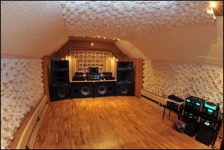 treated room for audio
