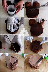 TartaFantasía: Paso a Paso Tarta Minnie Mouse
