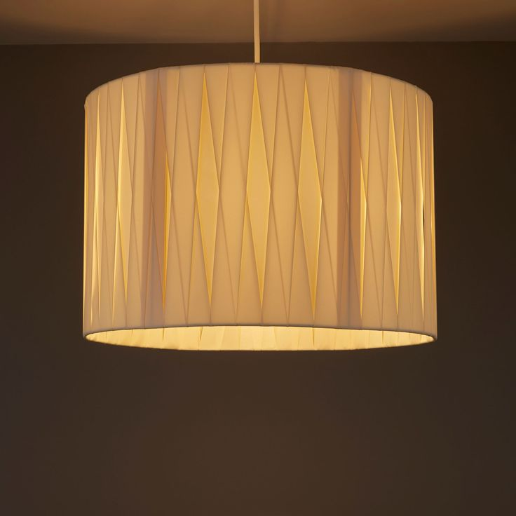 Acasia Ivory Ribbon Light Shade (D)410mm | Departments | DIY at B&Q