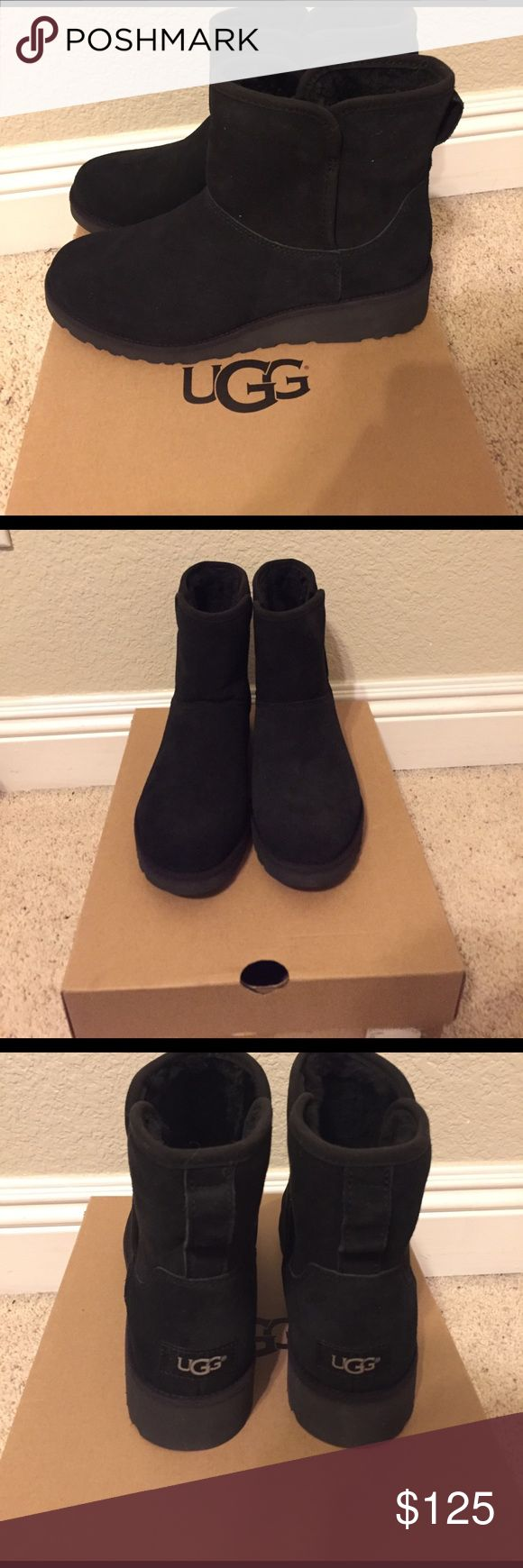 NEW! UGG Kristin Mini Boots in women's size 7! NEW! UGG Kristin Mini Black Boots in women's size 7! These are in excellent condition. Brand new and never worn before! They retail full price at Nordstrom and UGG website. Box is included. UGG Shoes