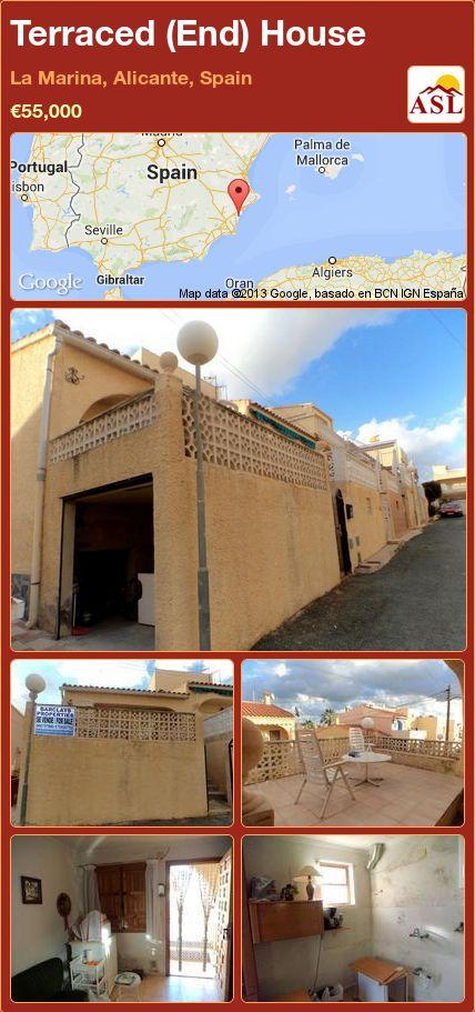 Terraced (End) House in La Marina, Alicante, Spain ►€55,000 #PropertyForSaleInSpain