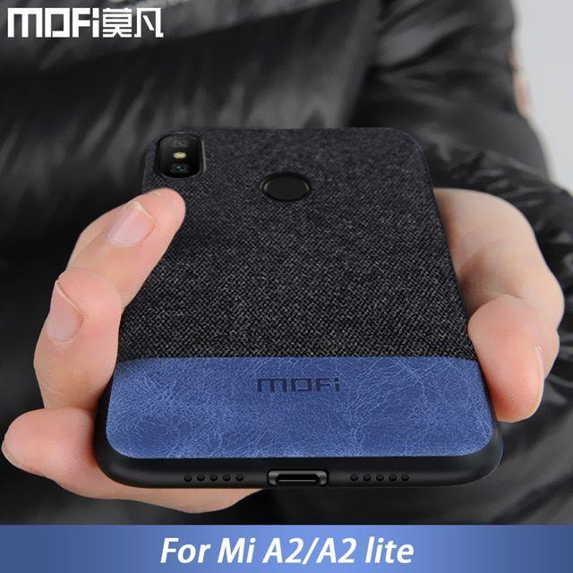 For Xiaomi Mi A2 Lite Case Cover A2 Lite Back Cover Silicone Edge Shockproof Fabric Case Capas Mofi Original Mi A2 Case Review Xiaomi Case Protective Cases