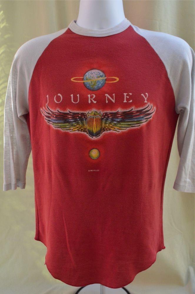 VINTAGE 1980 WORLD TOUR JOURNEY CONCERT 80S JERSEY T SHIRT Alton Kelley  LARGE