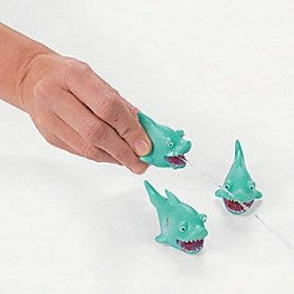 Shark Party Supplies, Shark Squirt Toys, Shark Party Favors