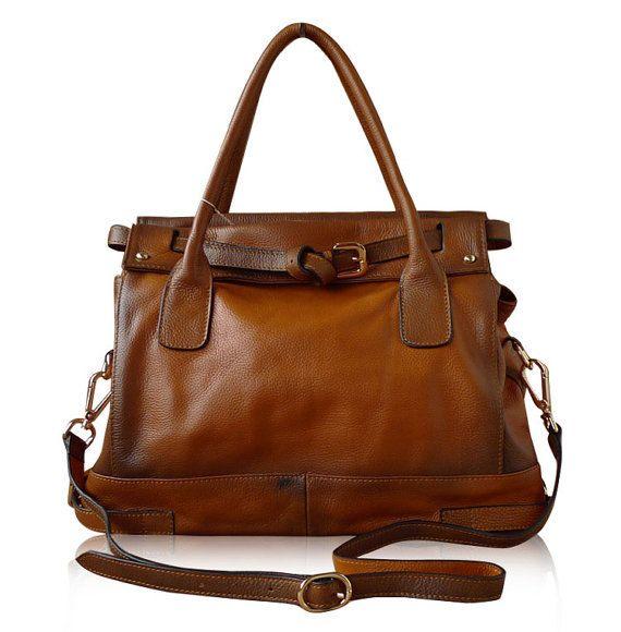Large Leather Tote Bag-Shopper-Ipad-MacBookBag- Shoulder Bag Leather Satchel /Briefcase Bag handbag/purse/handbags Bags in Brown(L118)