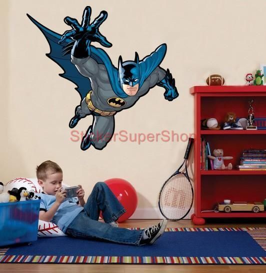 HUGE BATMAN ATTACK Decal Removable WALL STICKER Home Decor Art Stickups Kids