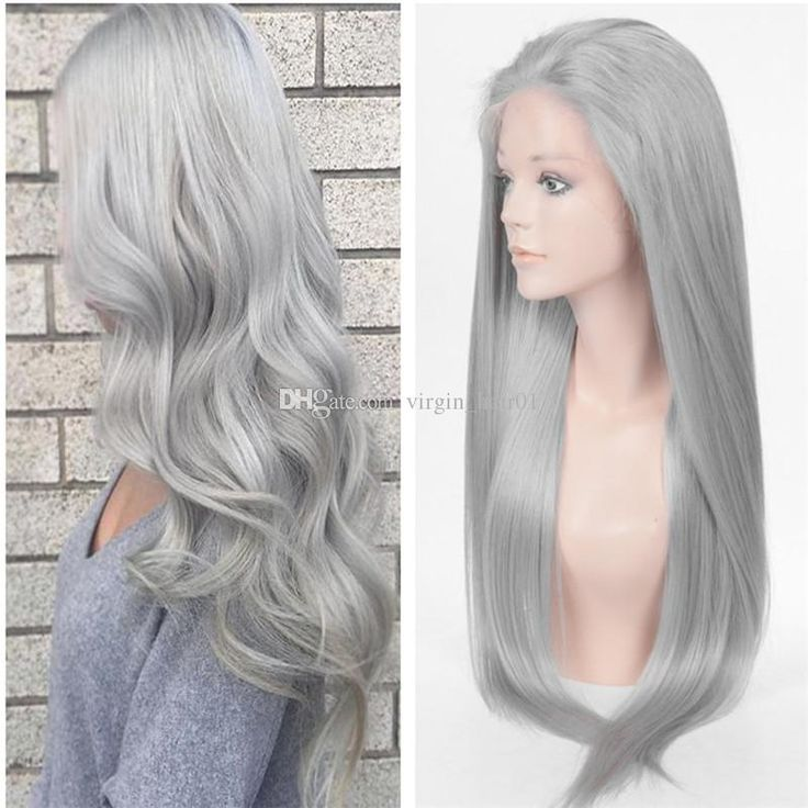 Cheap Grey Wig Front Lace Human Hair Silver Grey Straight Wigs Lace Front Wig Heat Resistant Middle Free Part Full Lace Wig For Women Premium Human Hair Best Full Lace Wigs Online From Virgin_hair01, $121.26| Dhgate.Com