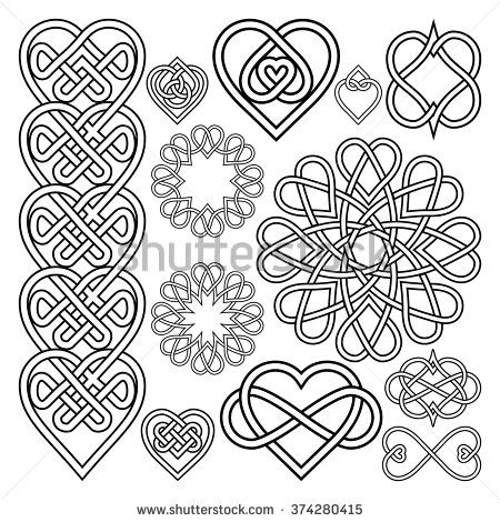 Celtic Knot Hearts Tattoo Stock Photos, Images, & Pictures | Shutterstock